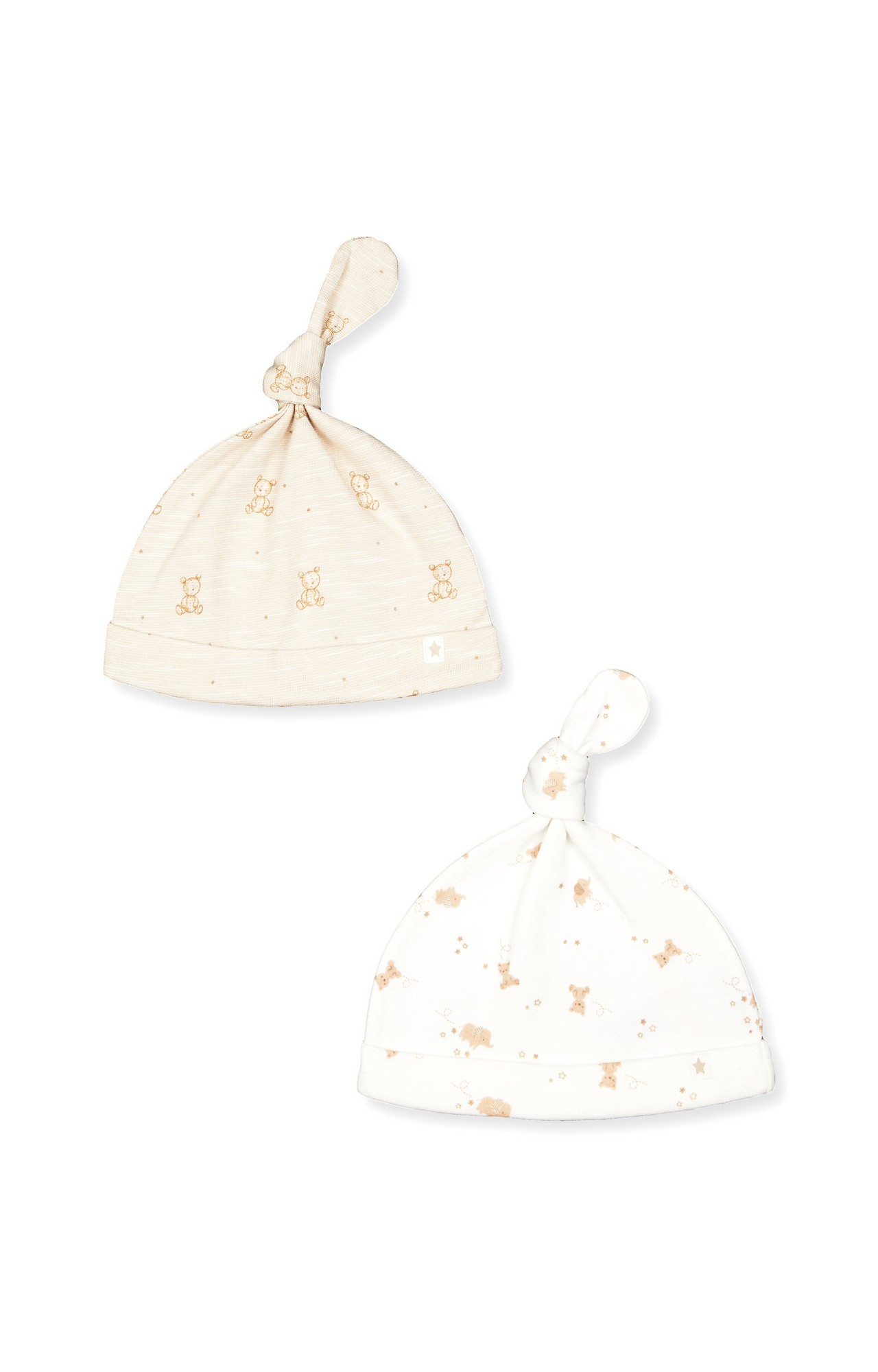 Mothercare | White Printed Caps