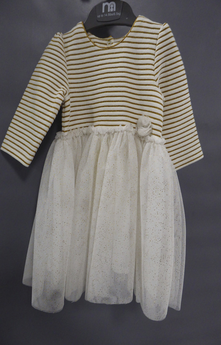 Mothercare | White Striped Dress