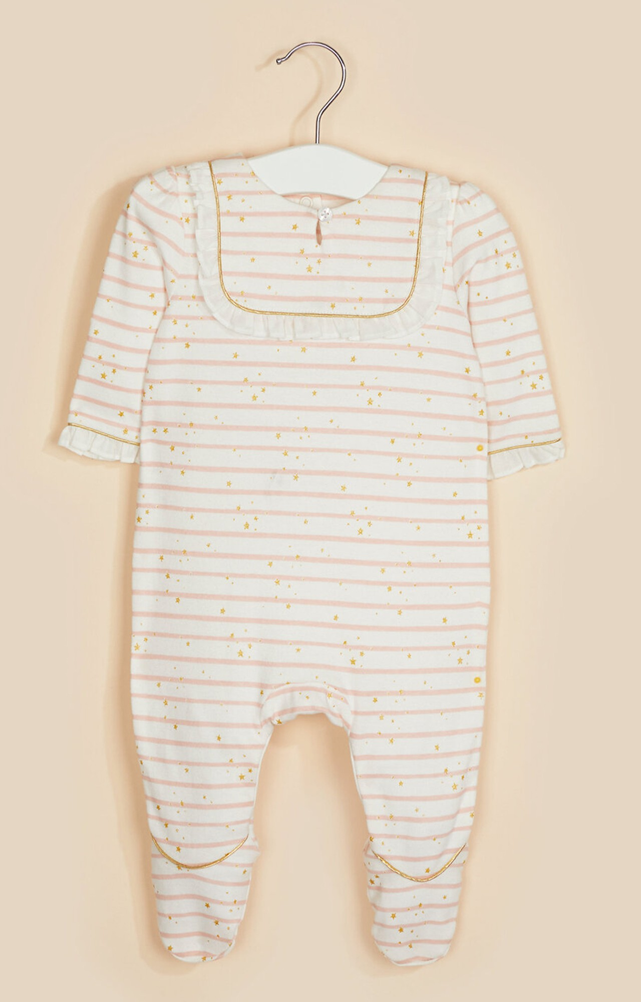 Mothercare | White Striped Star All In One