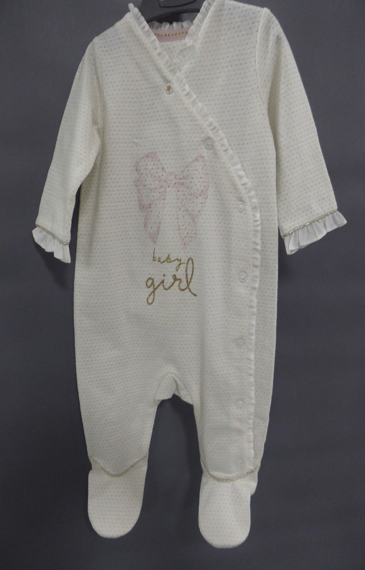 Mothercare   White Solid Romper
