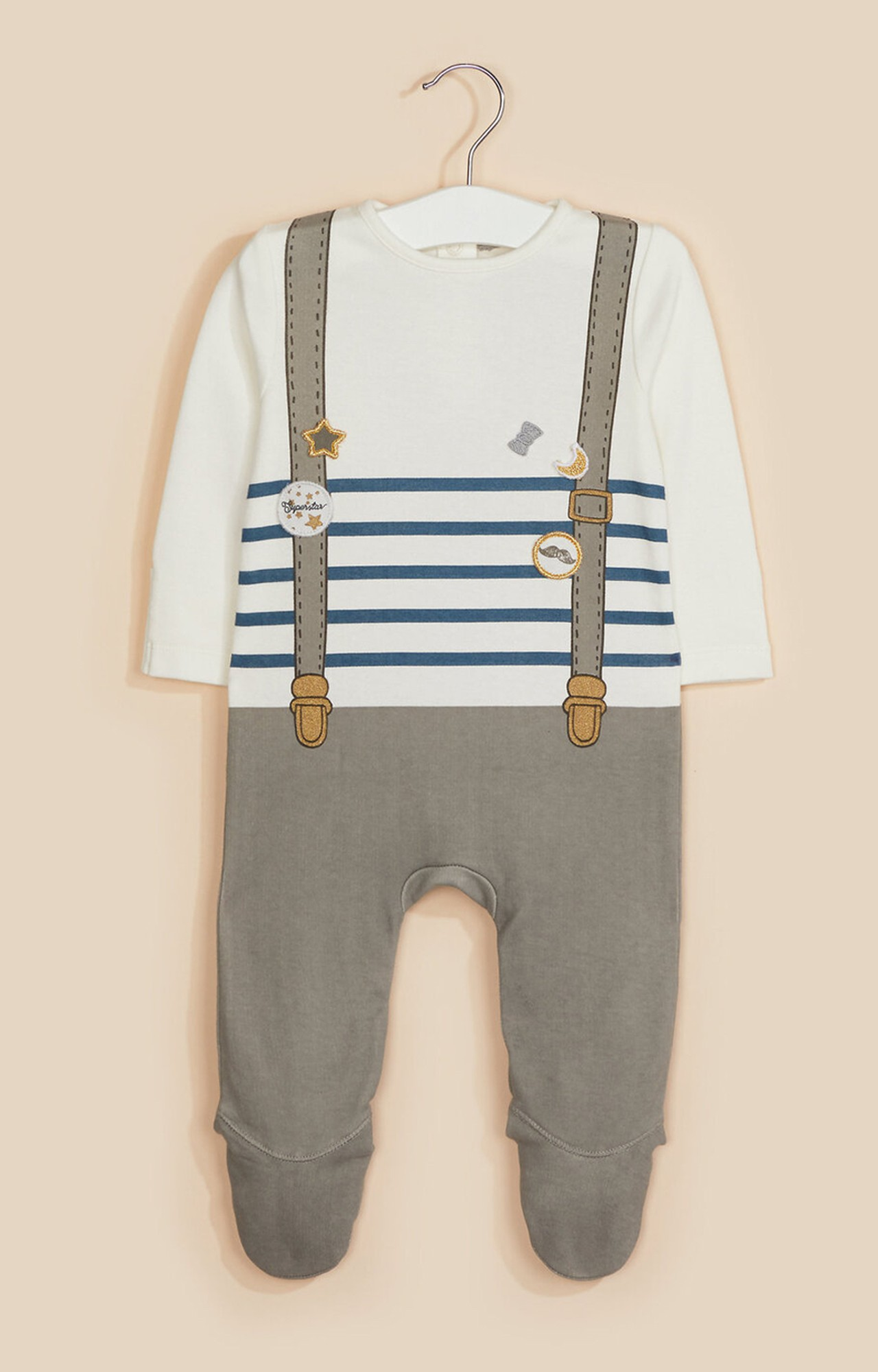 Mothercare | Badge and Braces Tromp L'Oeil All In One