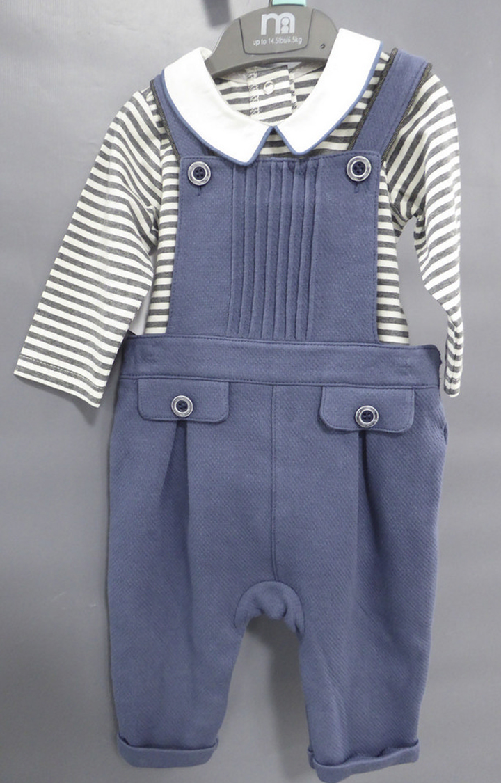 Mothercare | Blue Striped Twin Set