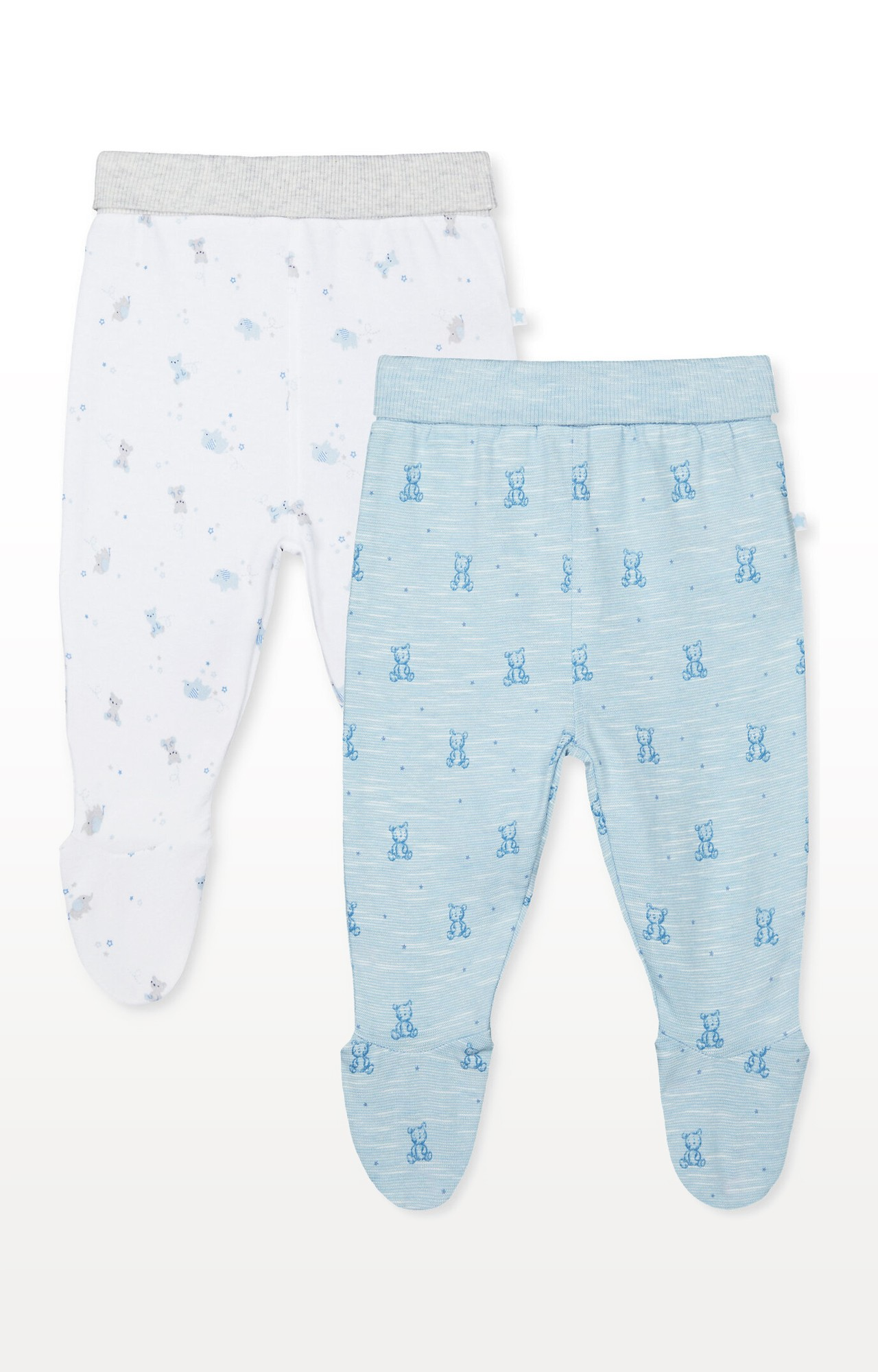 Mothercare | My First Bear and Elephant Leggings With Feet  Pack of 2