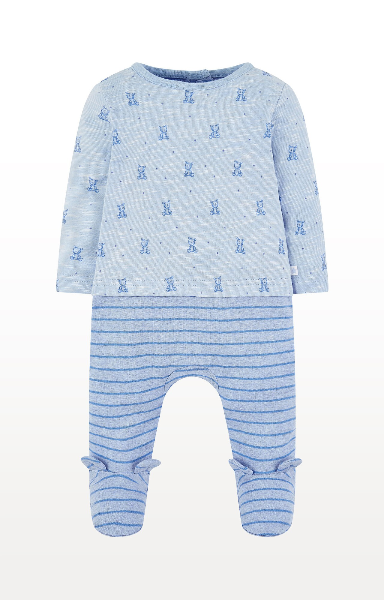 Mothercare | My First Blue Bear Mock All In One