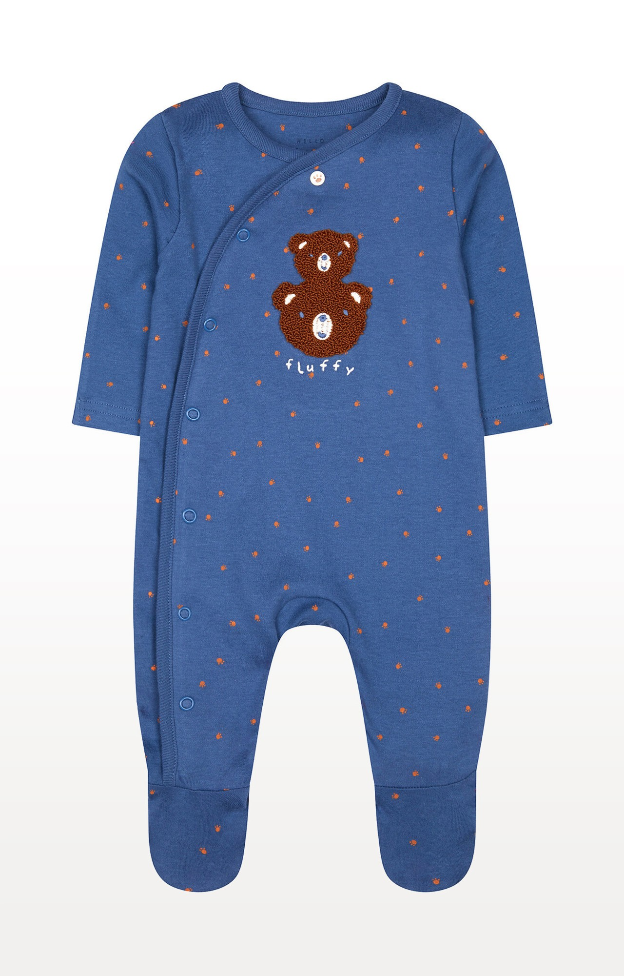 Mothercare | Blue Teddy All In One