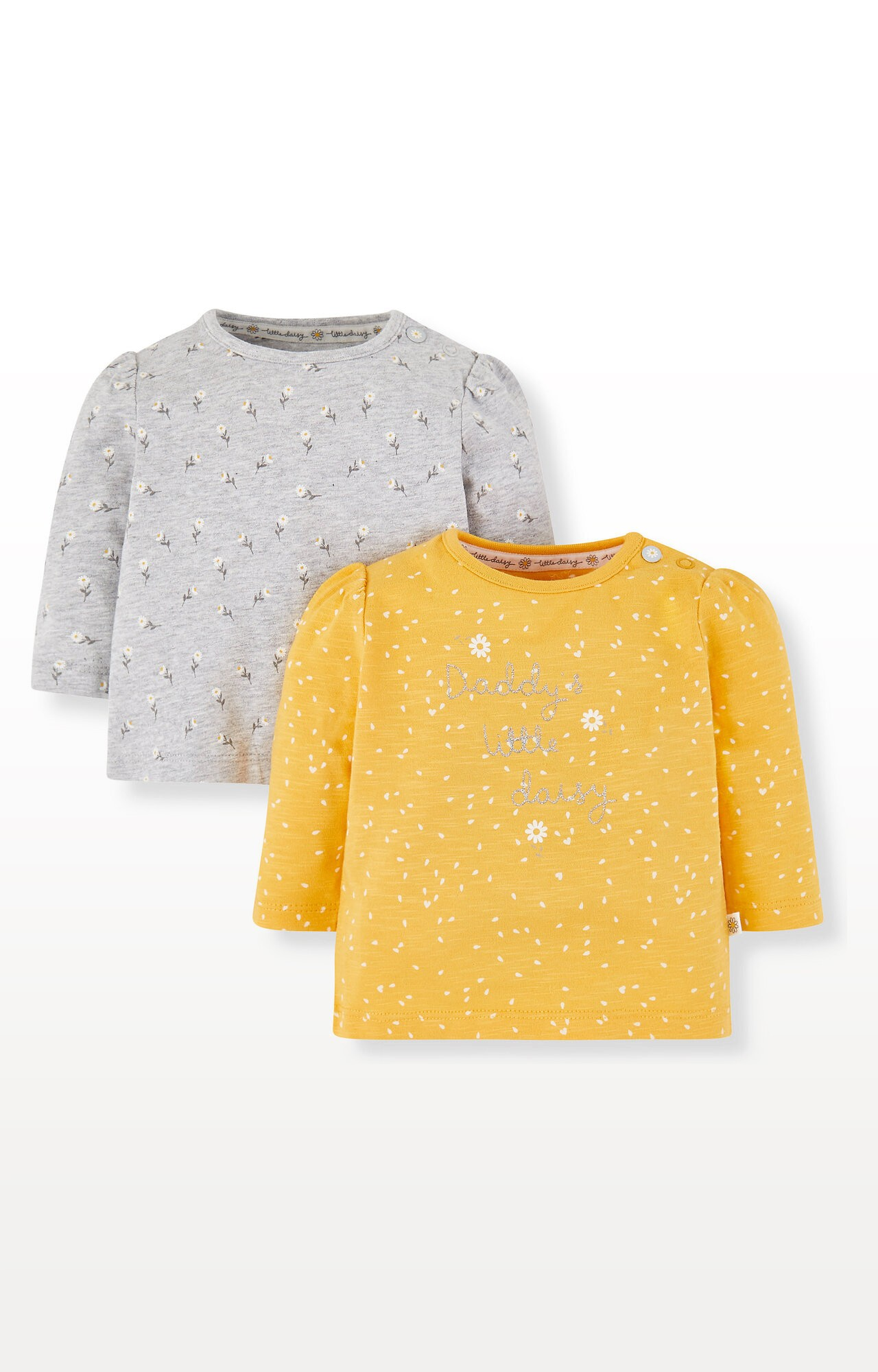Mothercare | Yellow Daisy Tops - Pack of 2