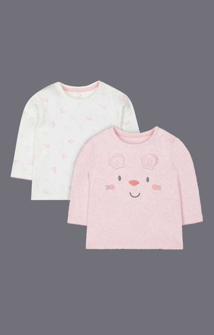 Mothercare   Pink Printed T-Shirt
