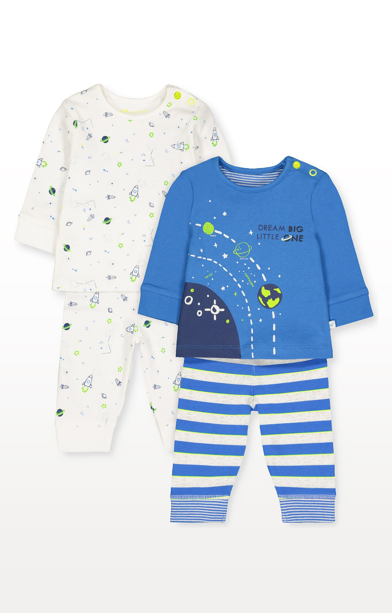 Mothercare | Little Space Pyjamas - Pack of 2