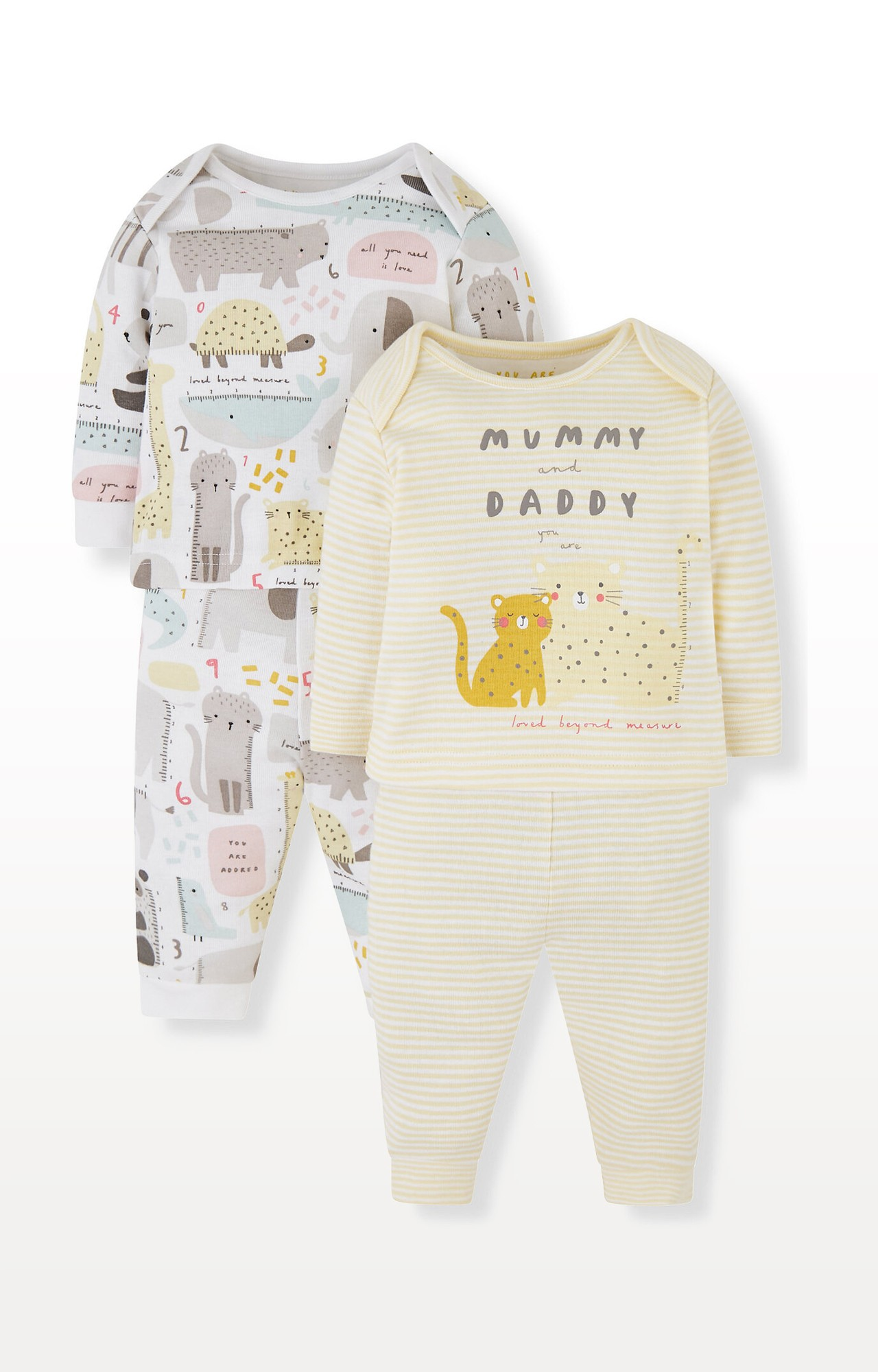 Mothercare | Animal Mummy and Daddy Pyjamas - Pack of 2