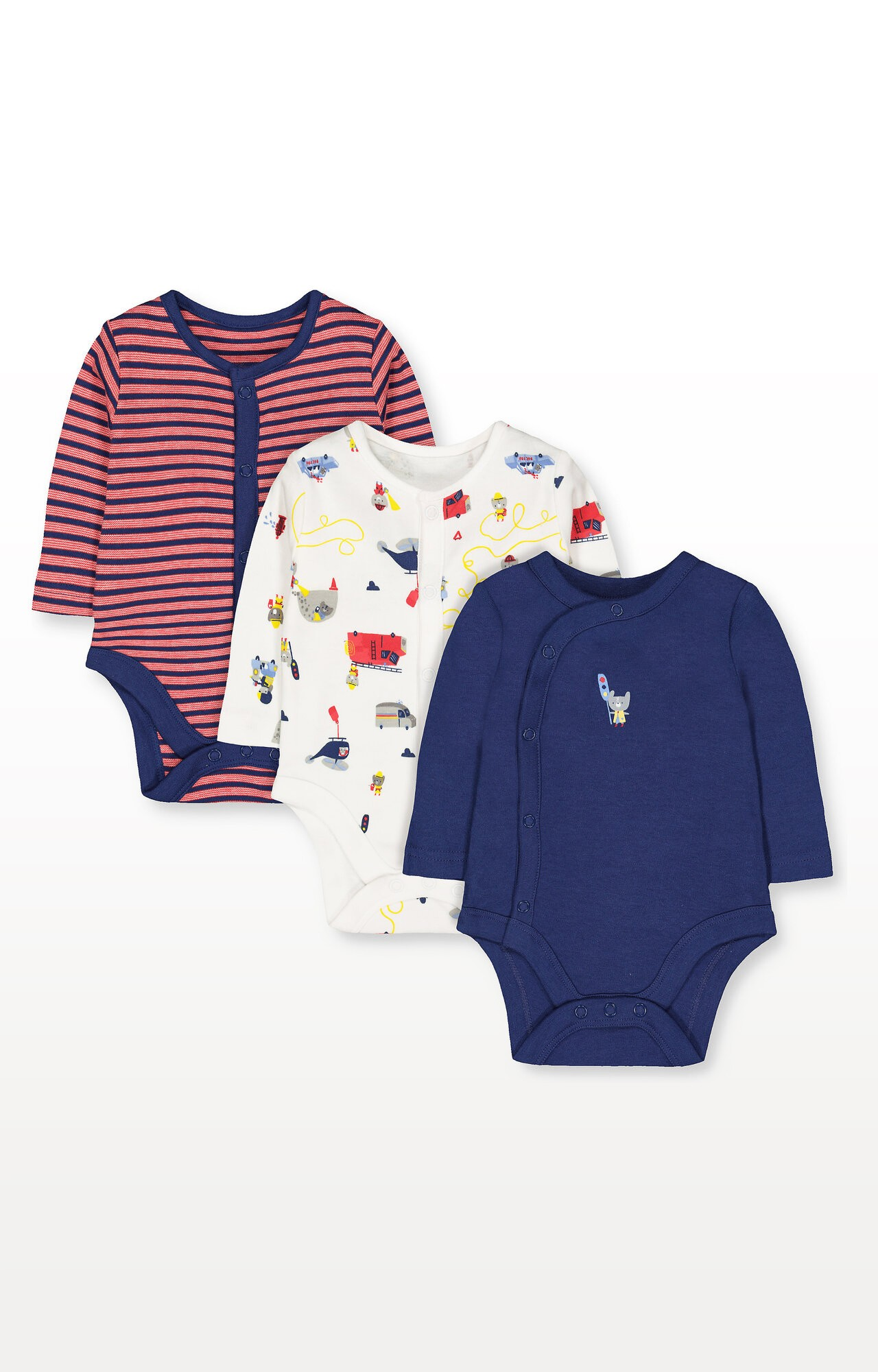 Mothercare | Rescue Bodysuits - Pack of 3