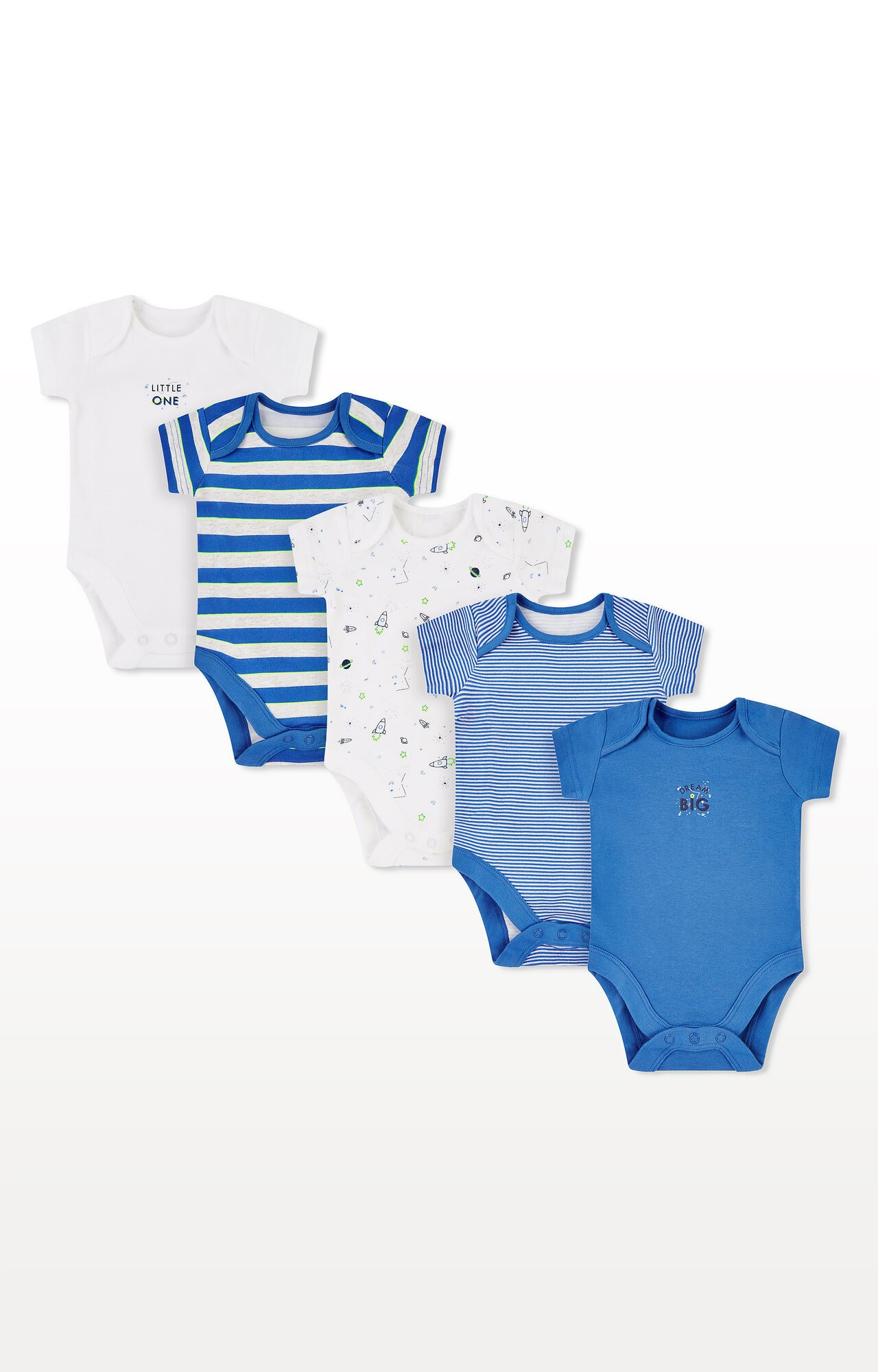 Mothercare | Little Space Bodysuits - Pack of 5