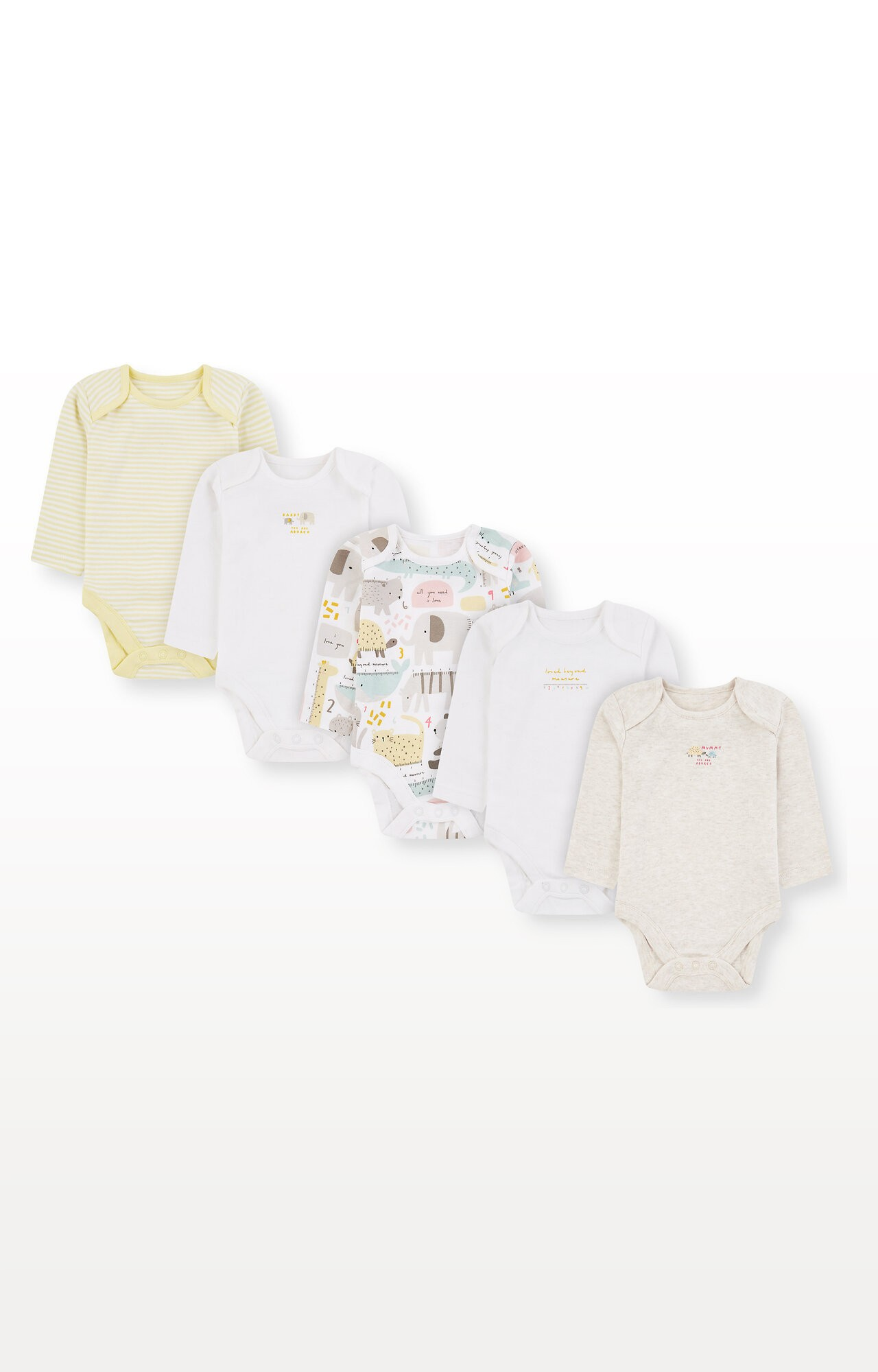 Mothercare | Mummy and Daddy Animal Bodysuits - Pack of 5