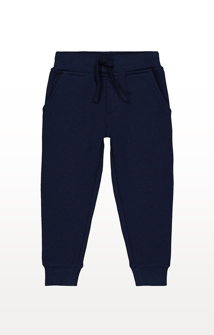 Mothercare | Navy Faux Fur-Lined Joggers