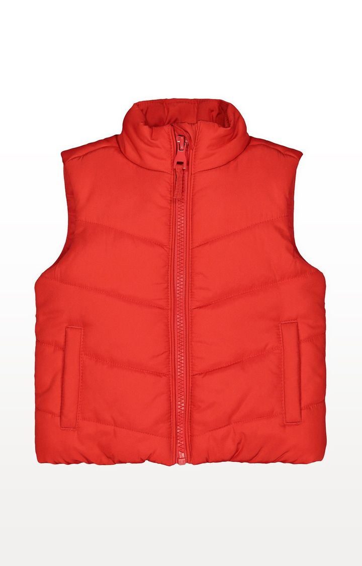 Mothercare | Red Fleece-Lined Gilet