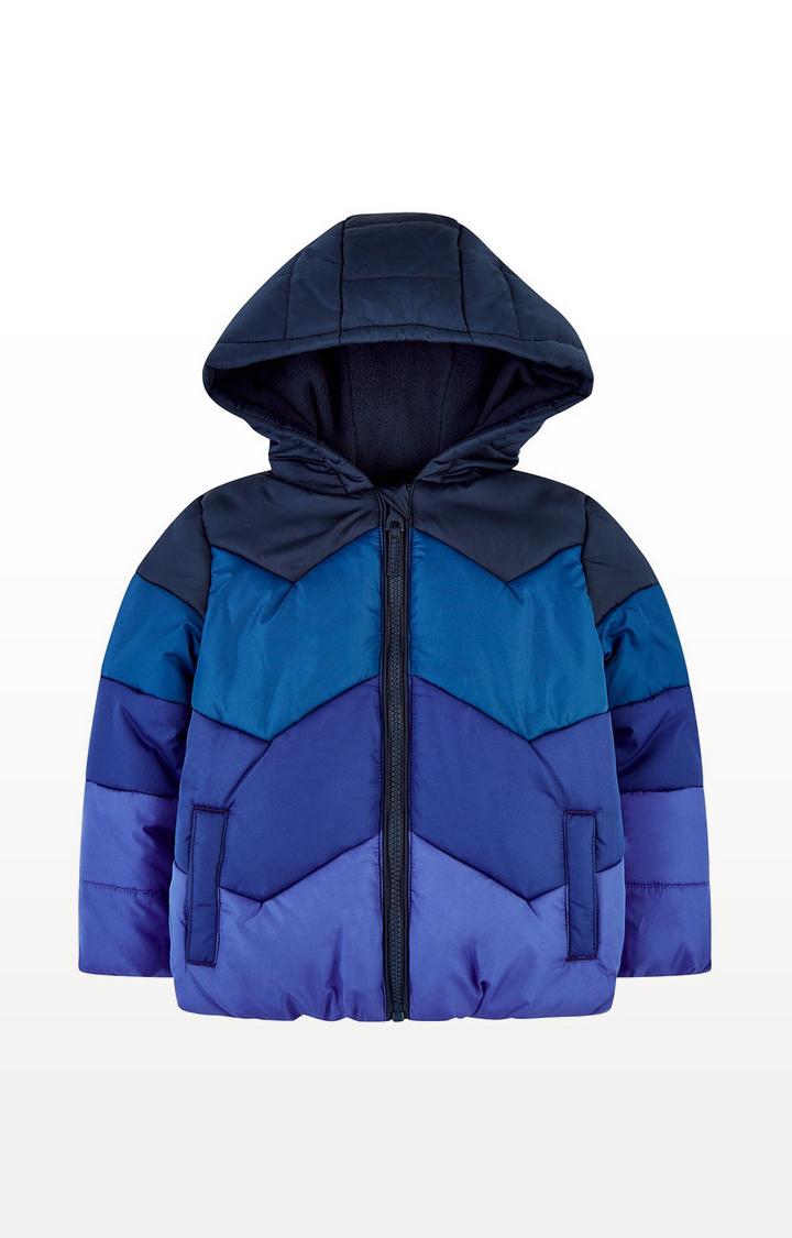Mothercare | Pink Chevron Fleece-Lined Jacket