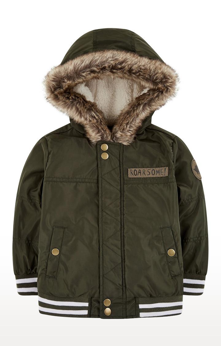 Mothercare | Khaki Fleece-Lined Bomber Jacket