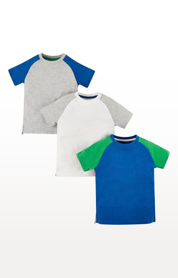 Mothercare   Raglan Sleeve T-Shirts - 3 Pack