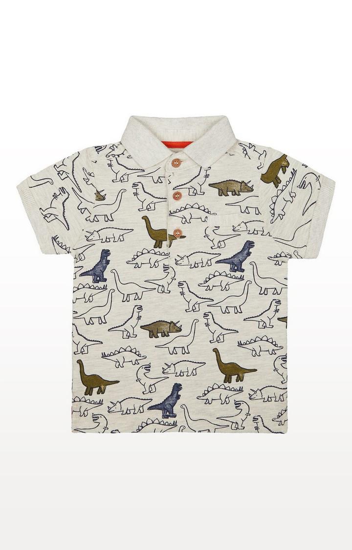 Mothercare | Grey Dinosaur Polo T-Shirt