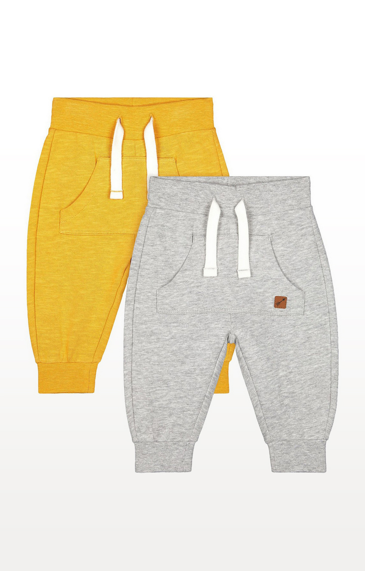Mothercare | Mustard And Grey Joggers - 2 Pack