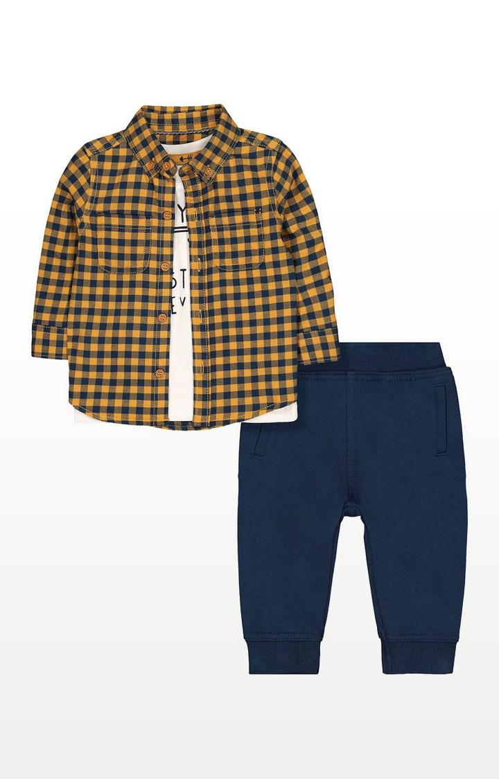 Mothercare | Shirt, T-Shirt And Jogger Set