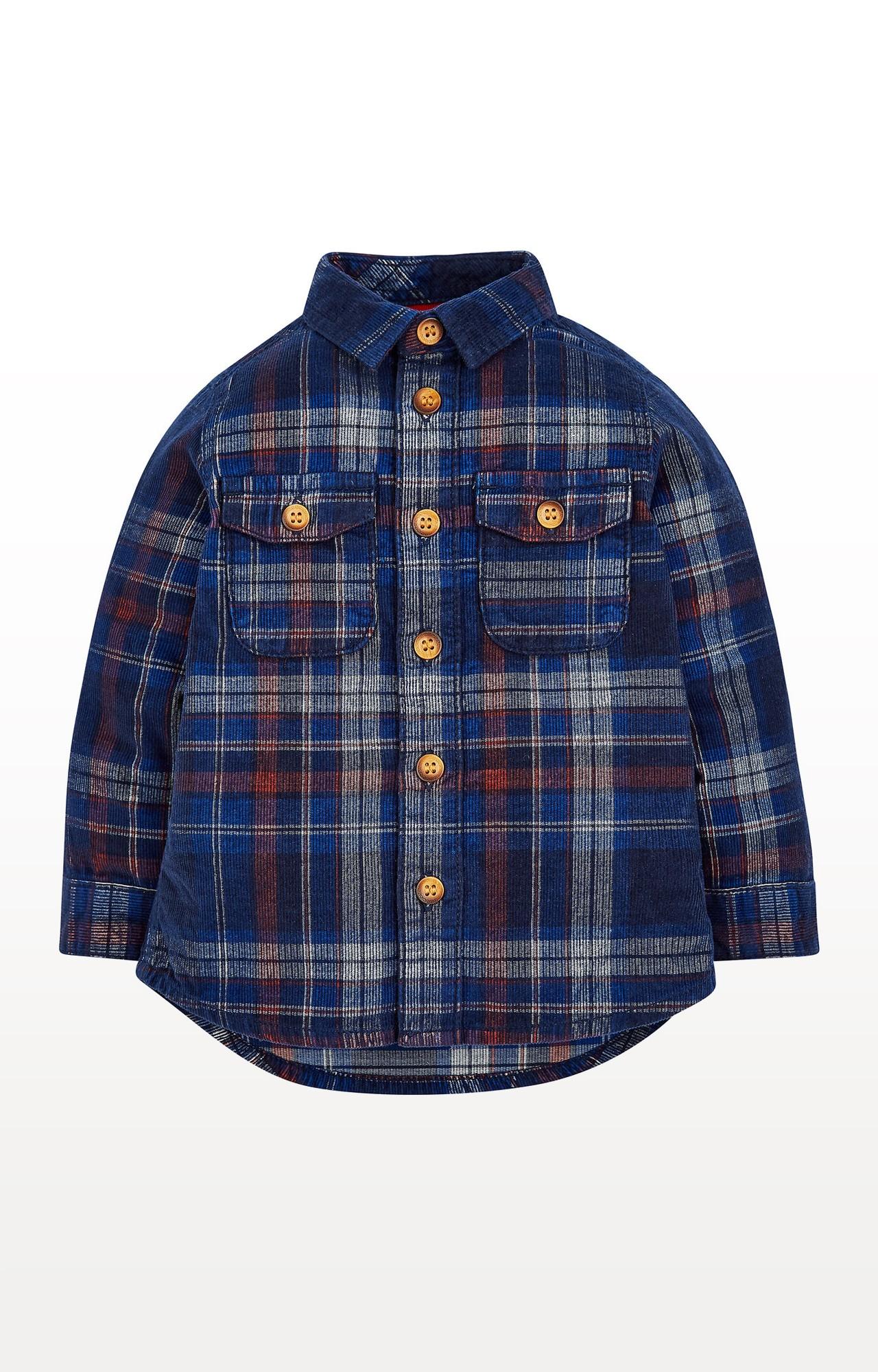Mothercare | Navy Cord Checked Shirt