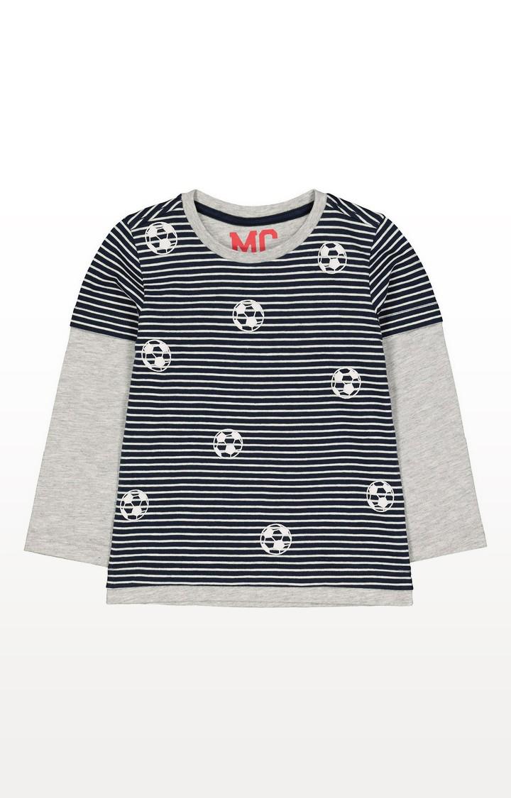 Mothercare | Navy Mock Sleeve T-Shirt