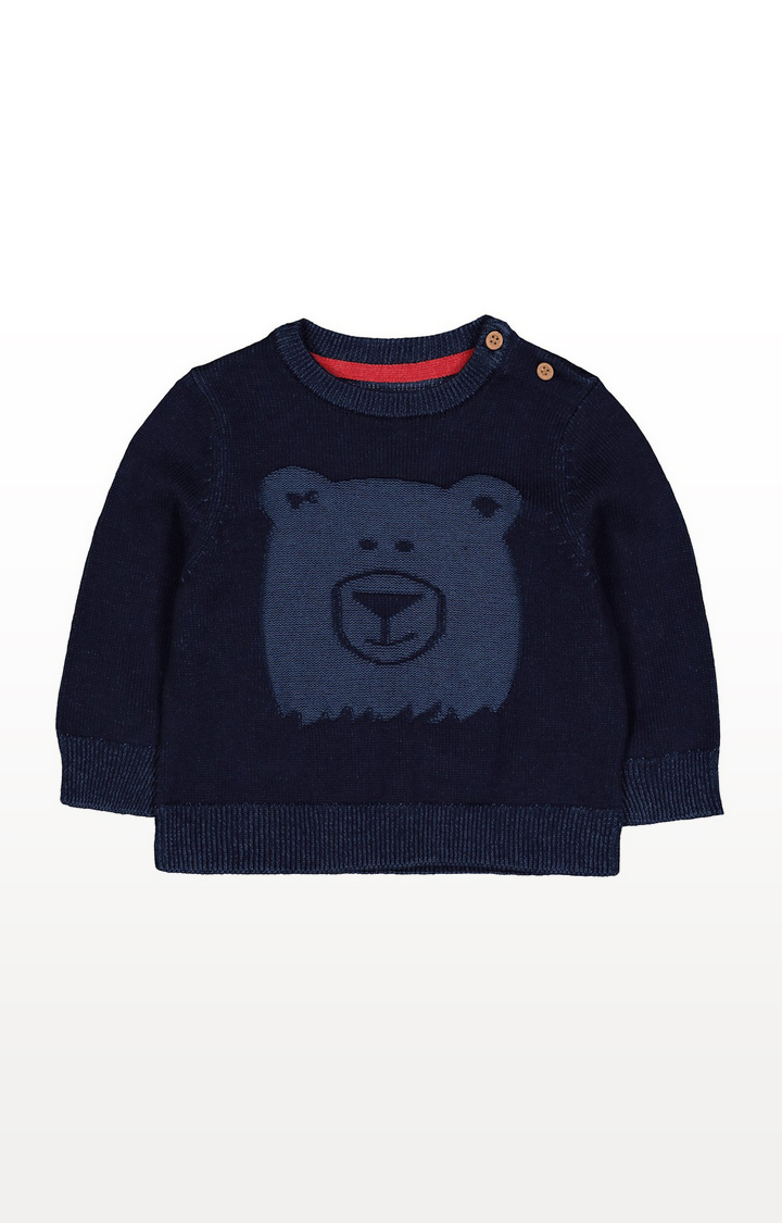 Mothercare | Navy Bear Knitted Jumper