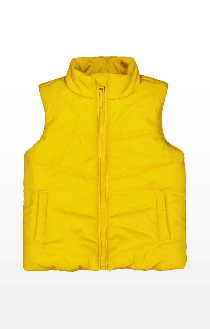 Mothercare | Yellow Fleece-Lined Gilet