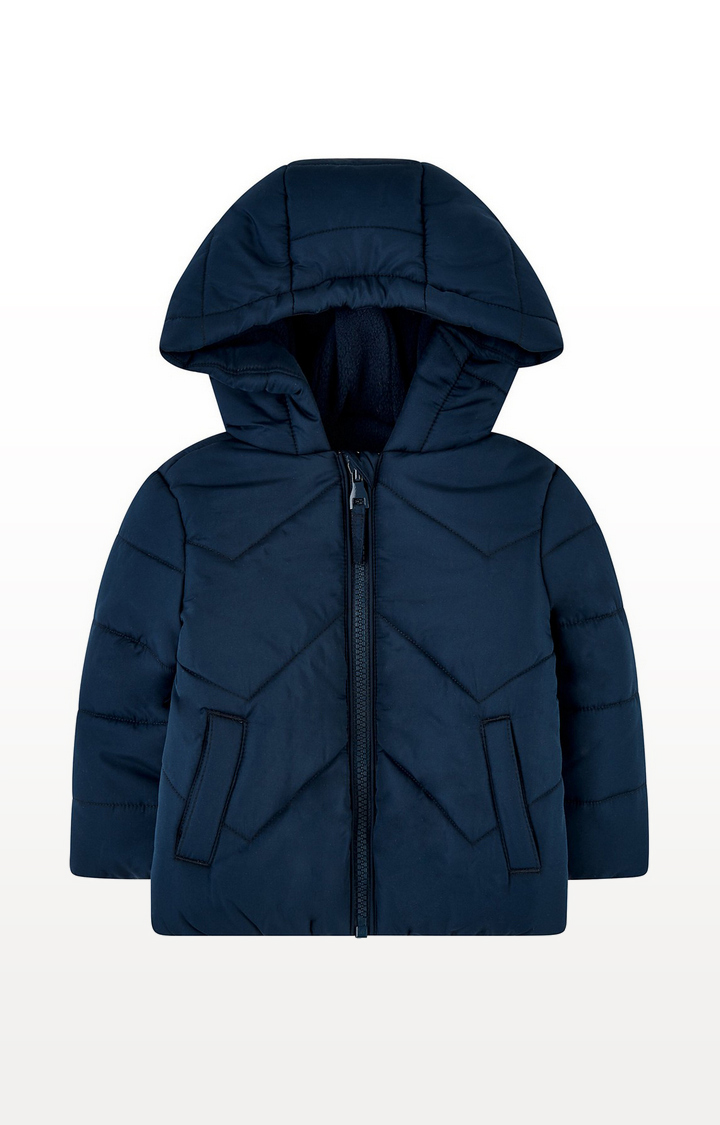 Mothercare | Blue Padded Jacket With Fleece Lining