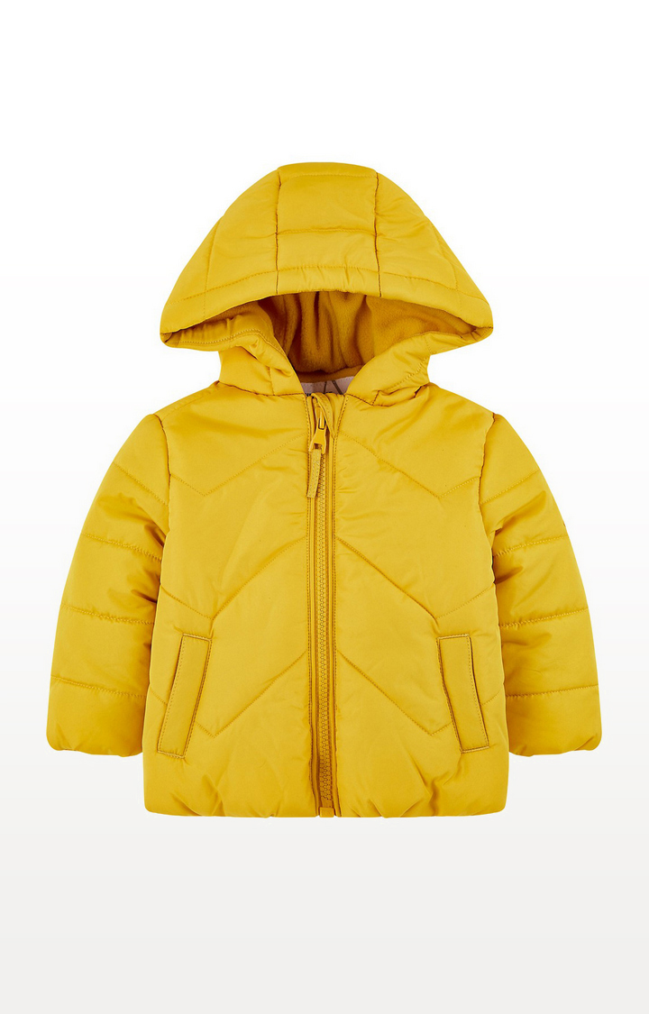 Mothercare | Yellow Padded Jacket With Fleece Lining