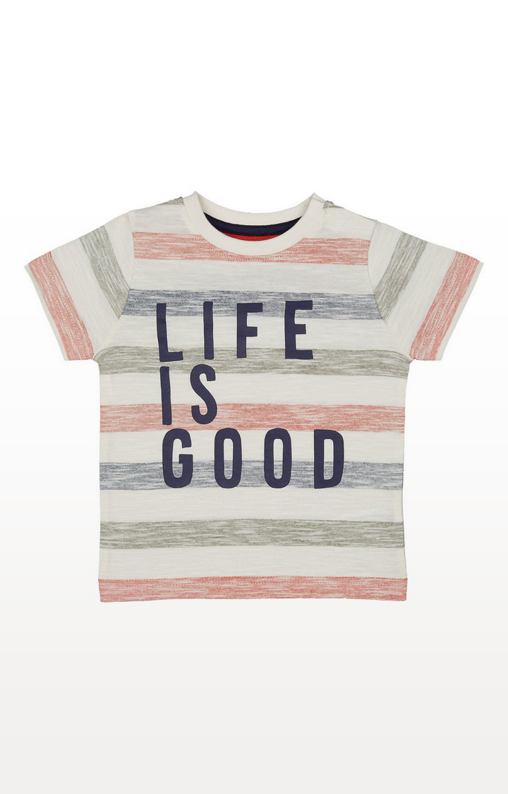 Mothercare | Stripe Life Is Good T-Shirt