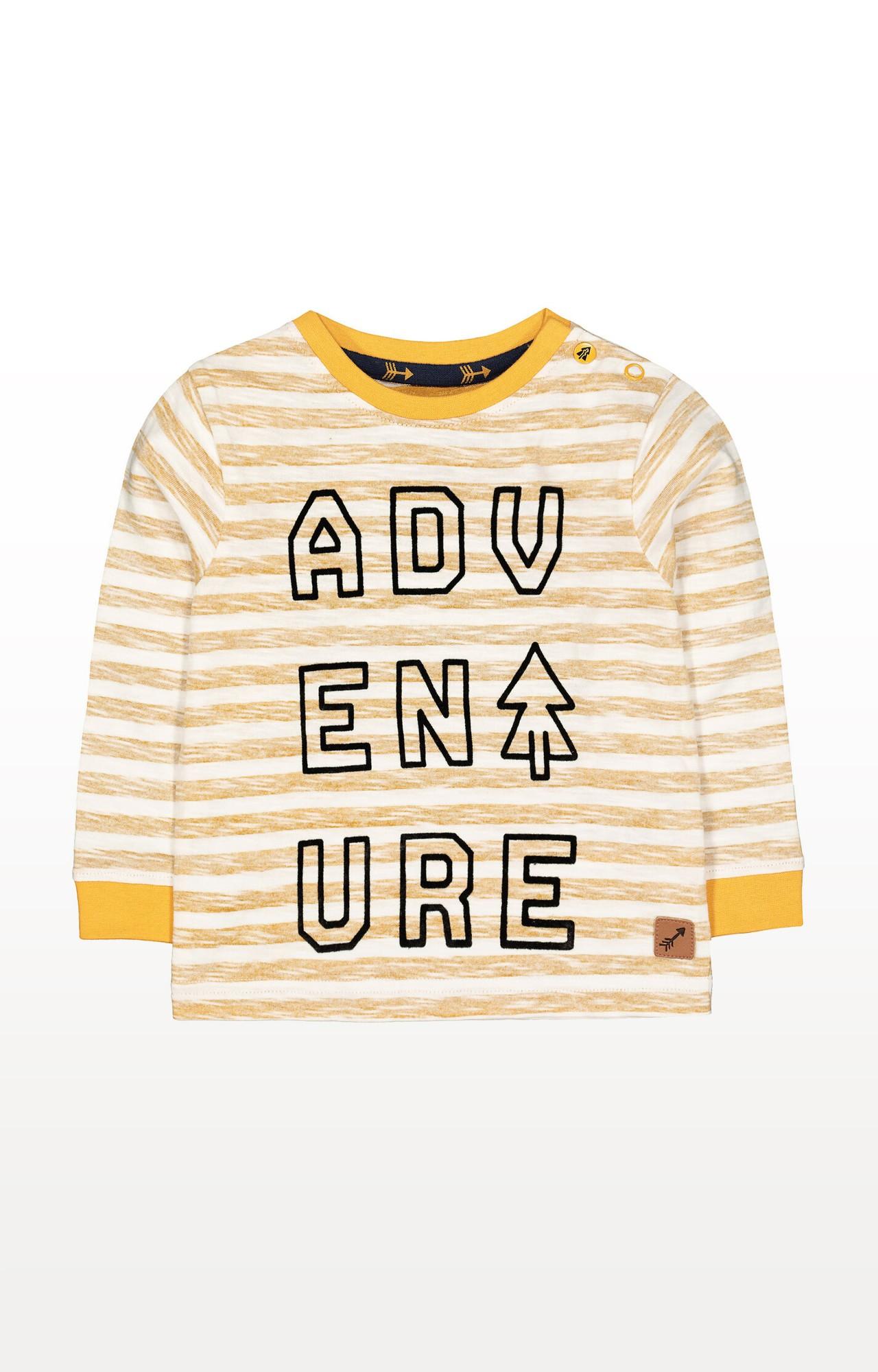 Mothercare | Mustard Stripe Adventure T-Shirt