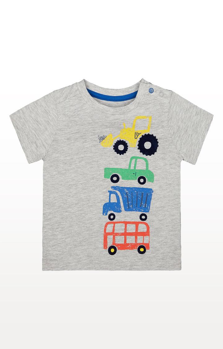 Mothercare | Grey Vehicle T-Shirt