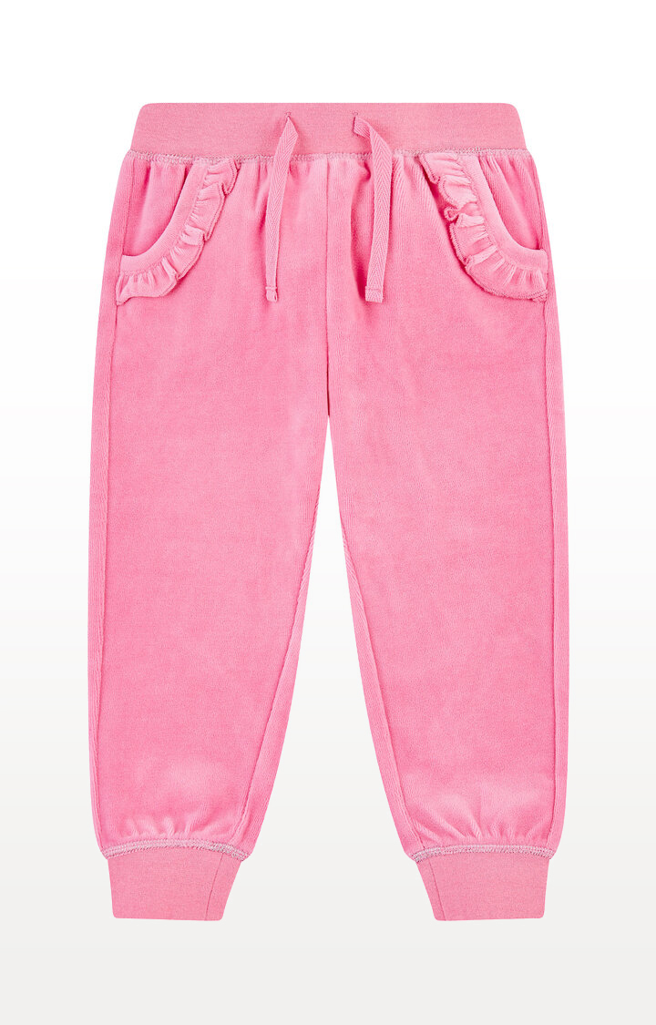 Mothercare | Pink Velour Frill Joggers