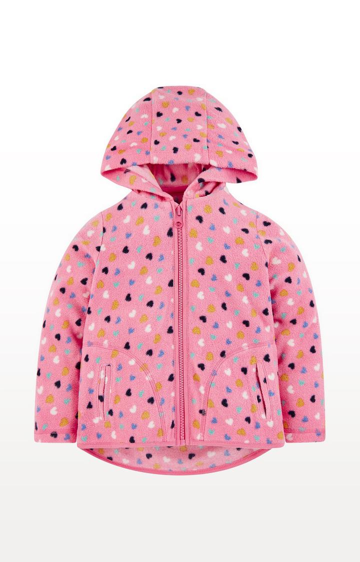 Mothercare | Pink Hearts Hooded Fleece