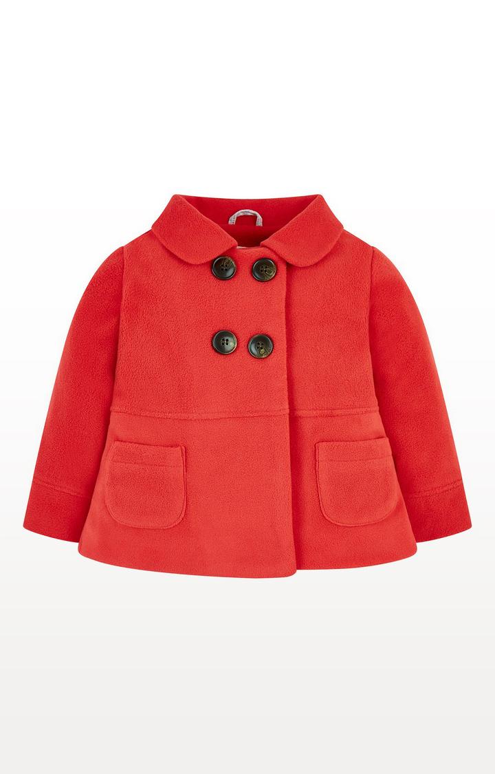 Mothercare | Red Fleece Swing Jacket