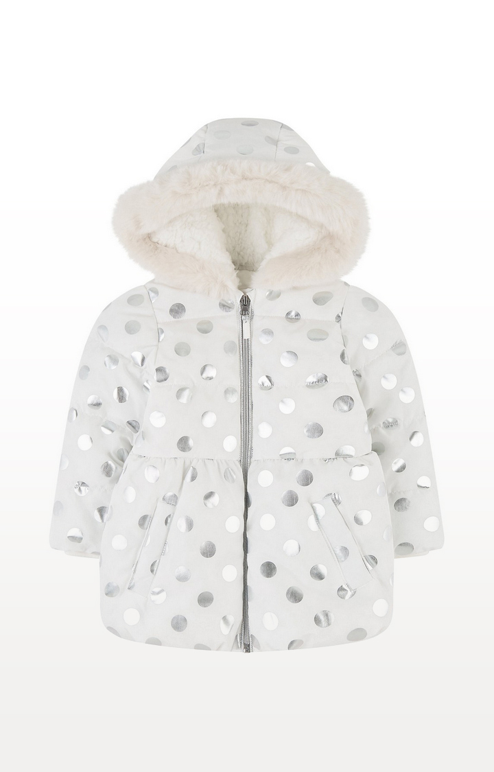 Mothercare | Foil Spot Padded Coat With Borg Lining