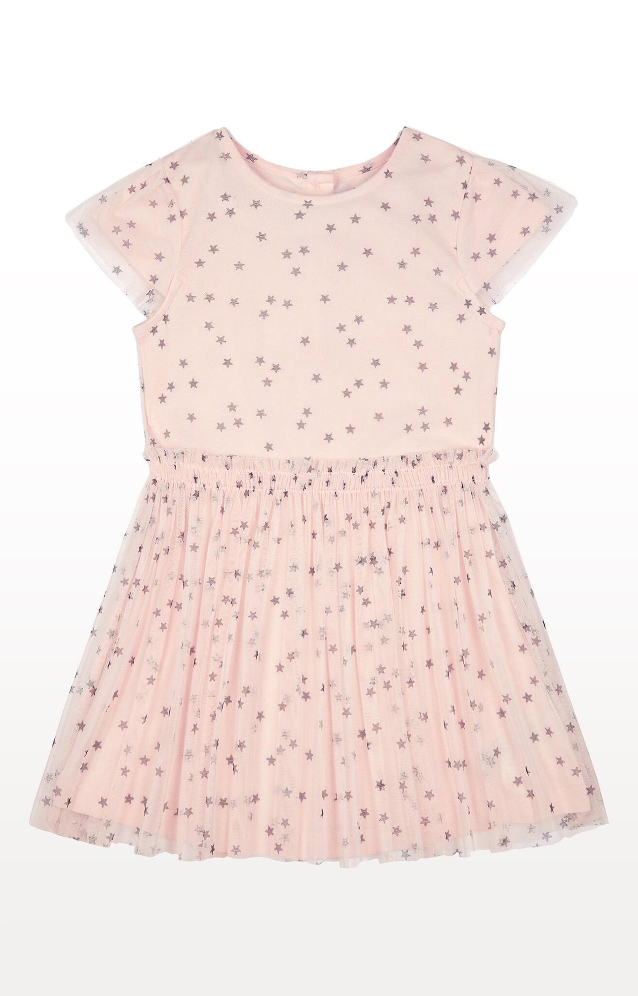 Mothercare | Pink Stars Mesh Twofer Dress