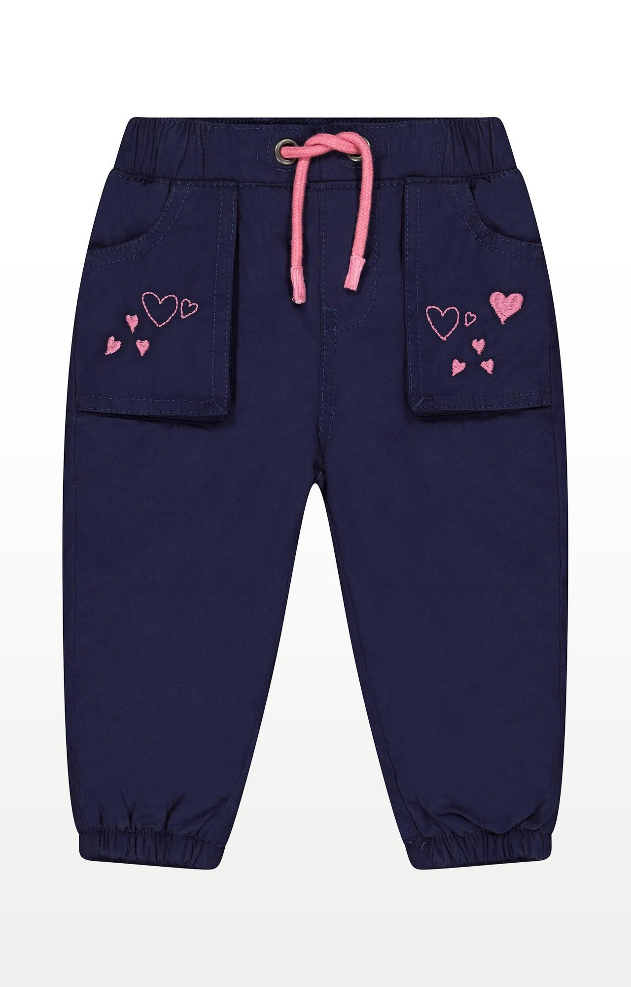 Mothercare | Navy Heart Poplin Trousers