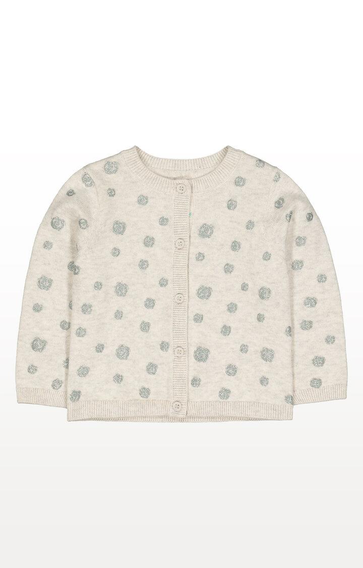 Mothercare | Grey Glitter Pinspot Knit Cardigan