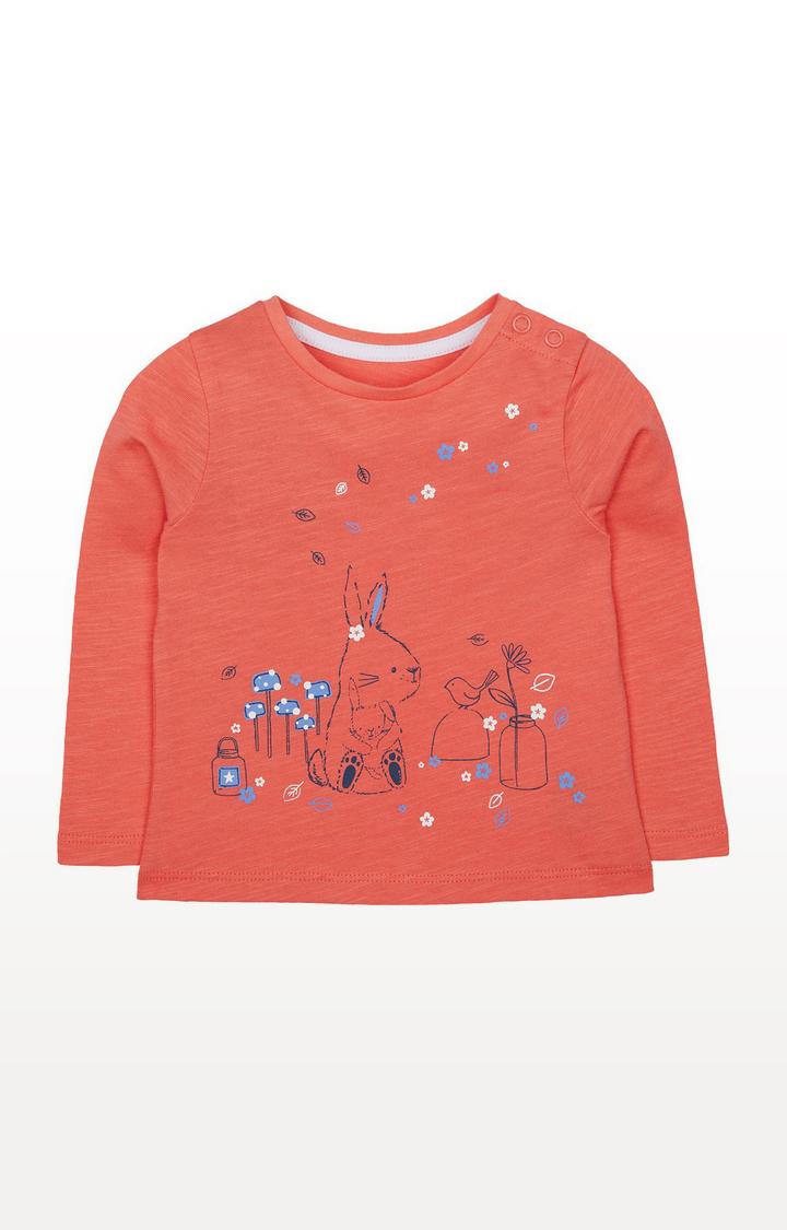 Mothercare   Coral Bunny T-Shirt