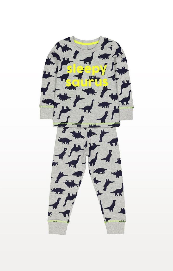 Mothercare | Grey Dinosaur Pyjamas