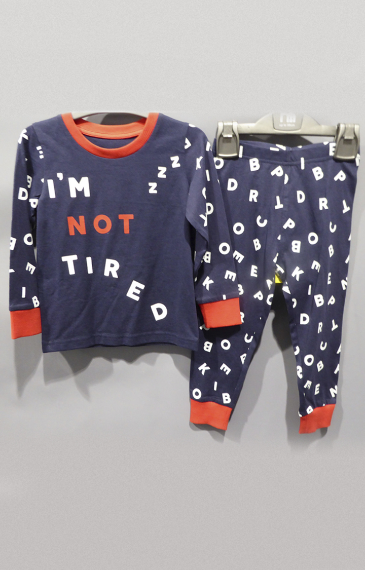 Mothercare | Navy Printed Twin Set