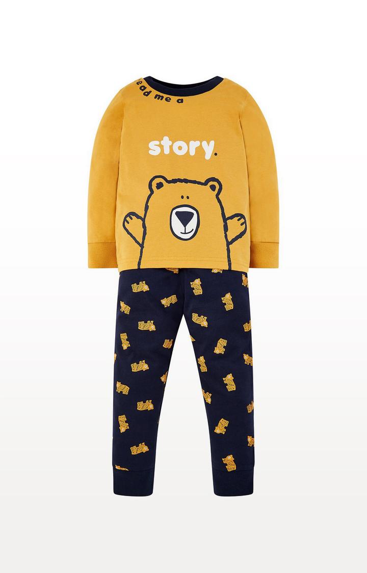 Mothercare   Mustard Story Bear Pyjamas