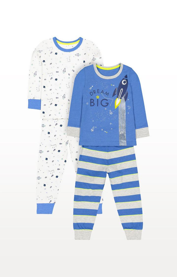 Mothercare | Space Rocket Pyjamas - 2 Pack