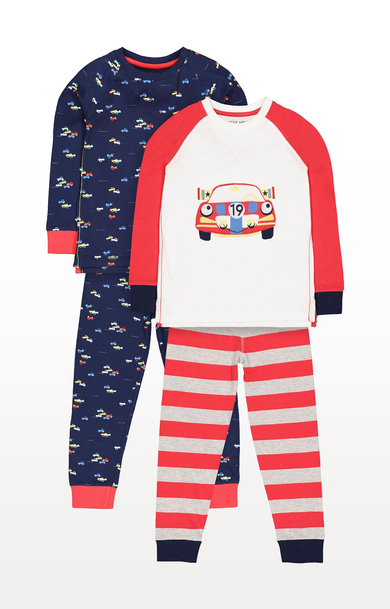 Mothercare | Racing Car Pyjamas - Pack of 2
