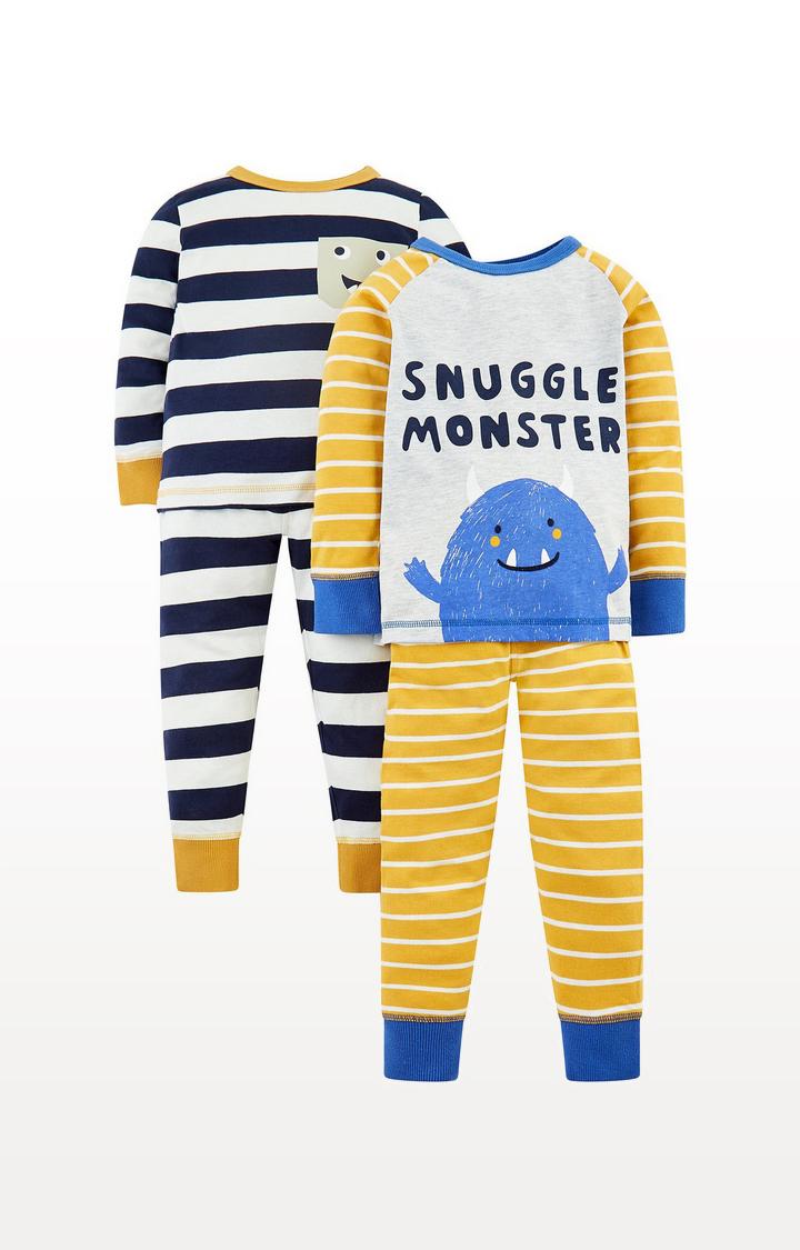 Mothercare | Snuggle Monster Pyjamas - 2 Pack
