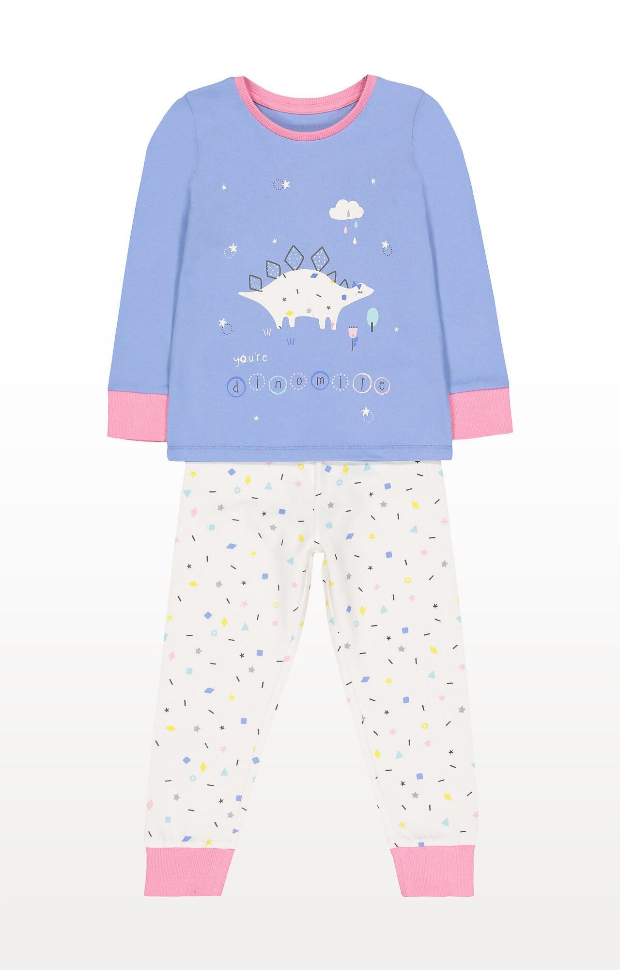 Mothercare | Blue Dinosaur Pyjamas