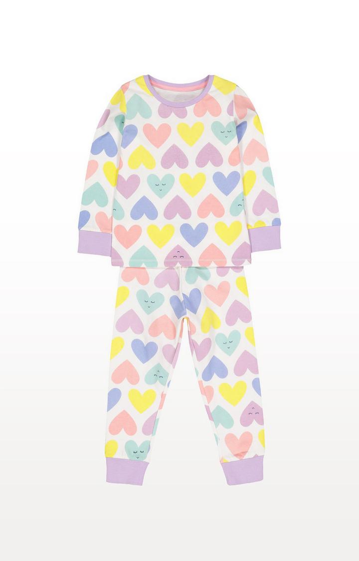Mothercare | Multicolour Hearts Pyjamas