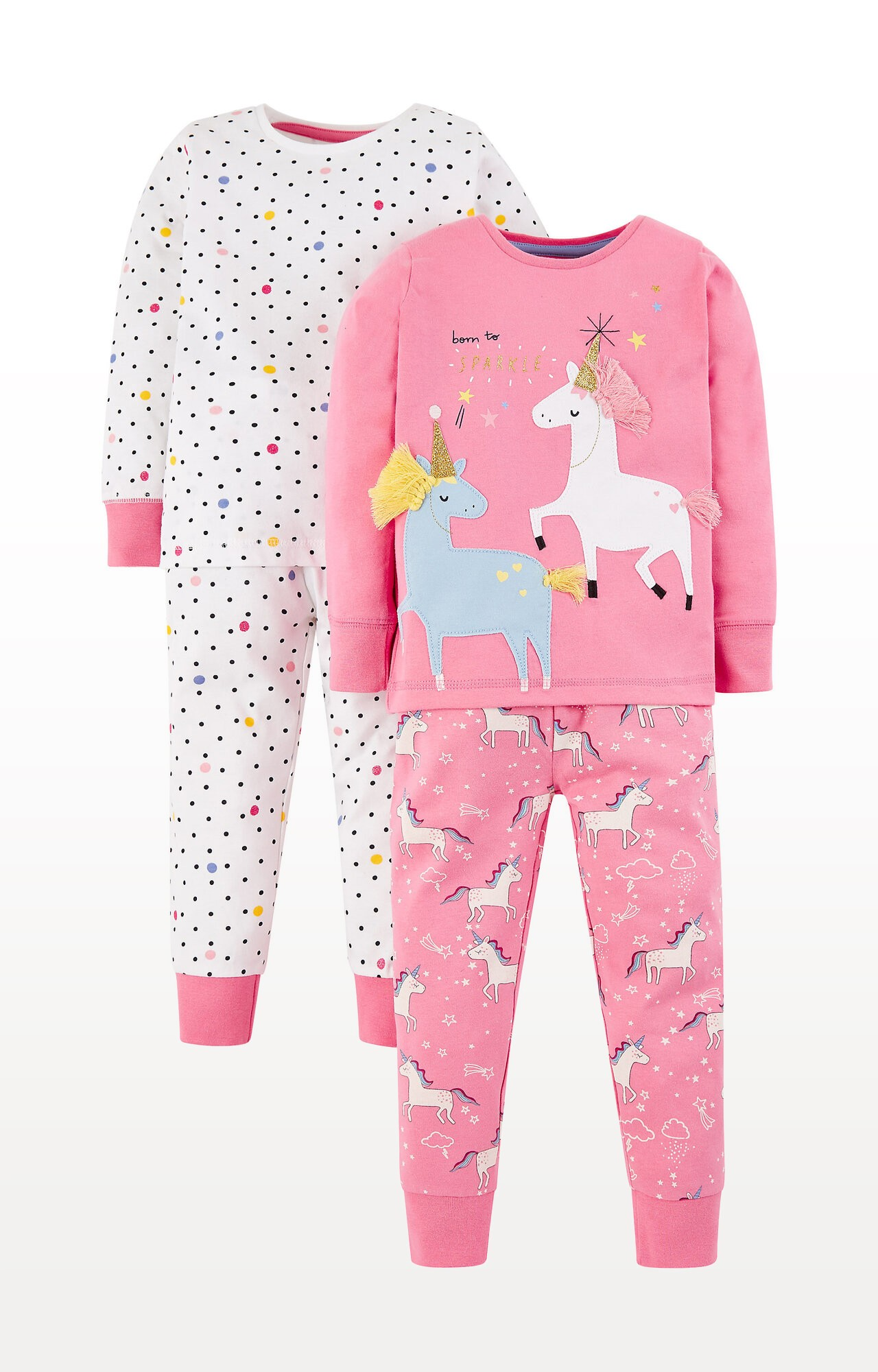 Mothercare | Glitter Party Horses Pyjamas - Pack of 2